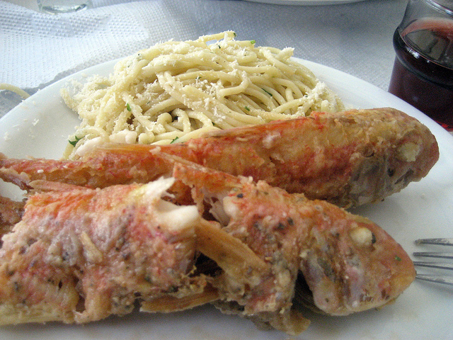 Red Mullet and Pasta , Kithnos